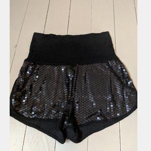 BCBG high waited sequin shorts